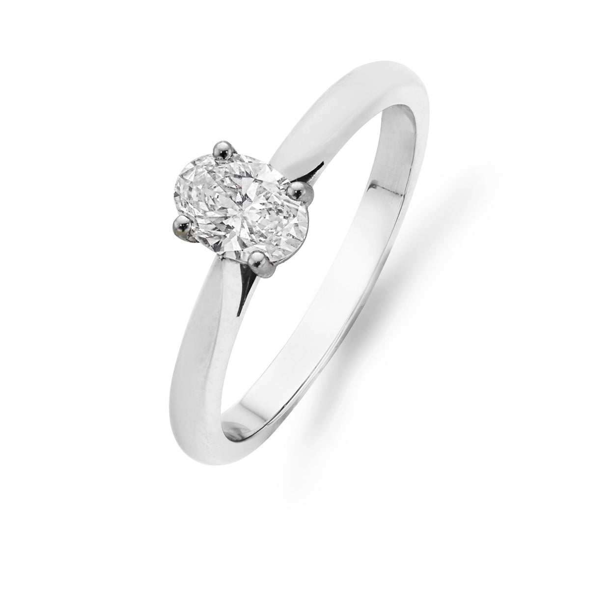 Oval-Shaped Diamond Engagement Ring-Hamilton & Inches