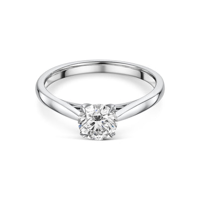 Diamond Solitaire Engagement Ring in Platinum - Hamilton & Inches
