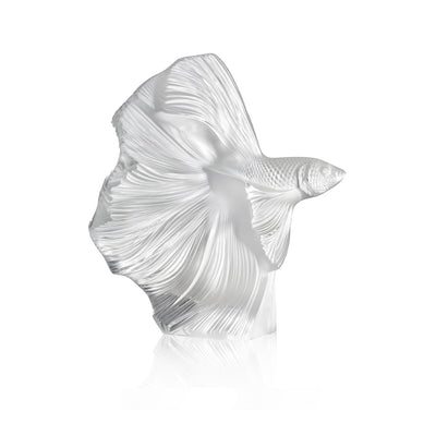 Lalique Fighting Fish Sculpture - Hamilton & Inches