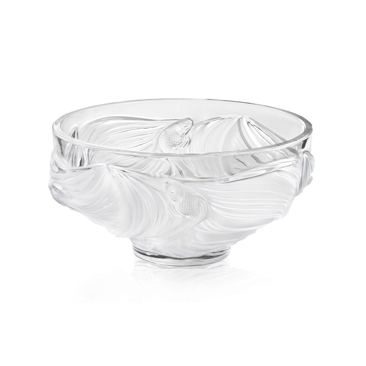 Lalique Large Poisson Combattants Bowl - Hamilton & Inches