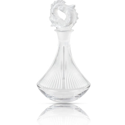 Lalique 2 Poissons Decanter in Clear Crystal - Hamilton & Inches