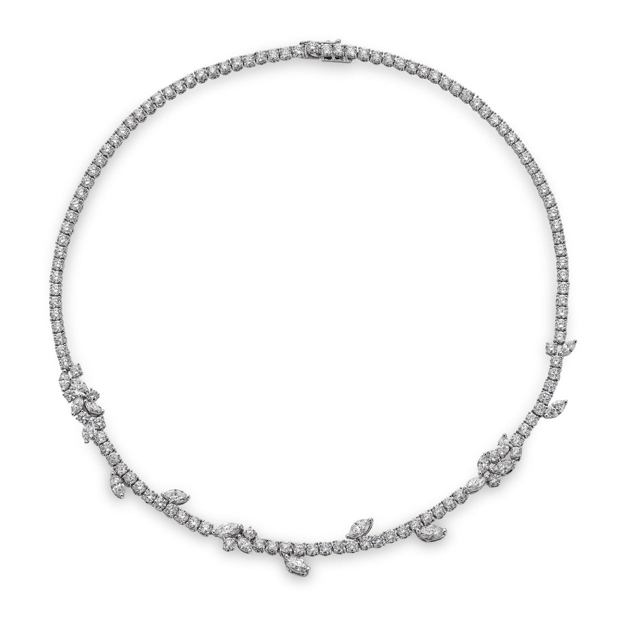 16.09ct Diamond Necklace in 18ct White Gold - Hamilton & Inches