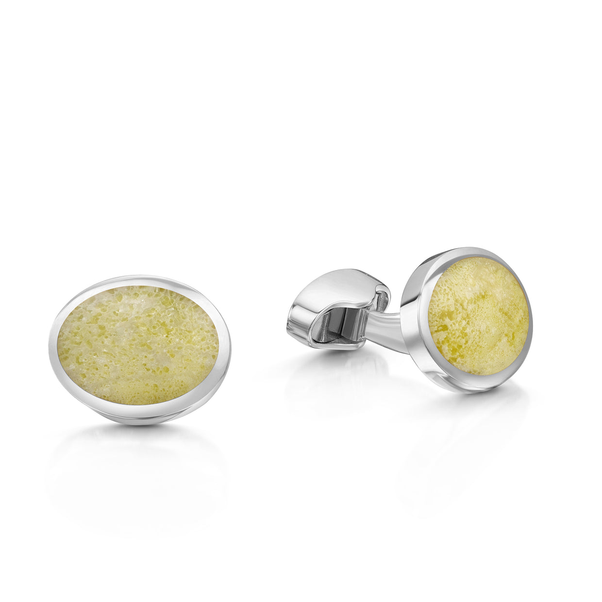 Isle of Iona Marble Cufflinks-Hamilton & Inches