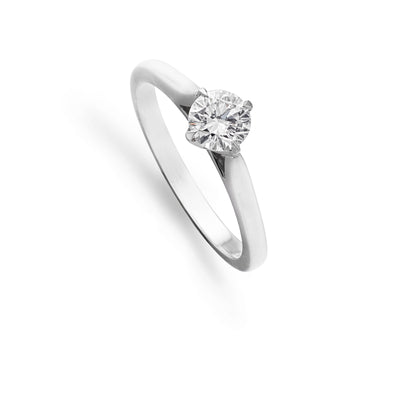 Brilliant-Cut Diamond Ring in Platinum Lotus Setting-Hamilton & Inches