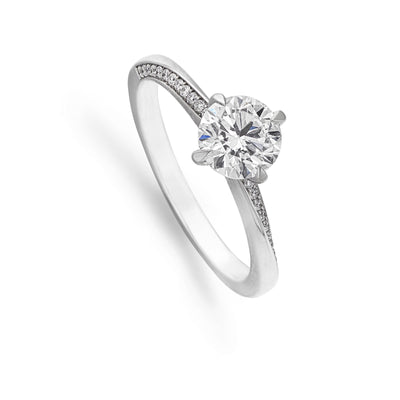 Diamond Solitaire Engagement ring with Twist Setting - Hamilton & Inches