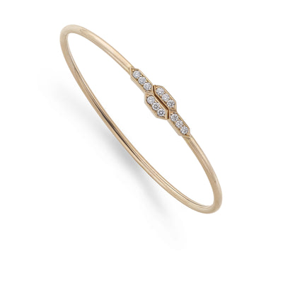 Diamond Flexi Bangle in 18ct Rose Gold - Hamilton & Inches