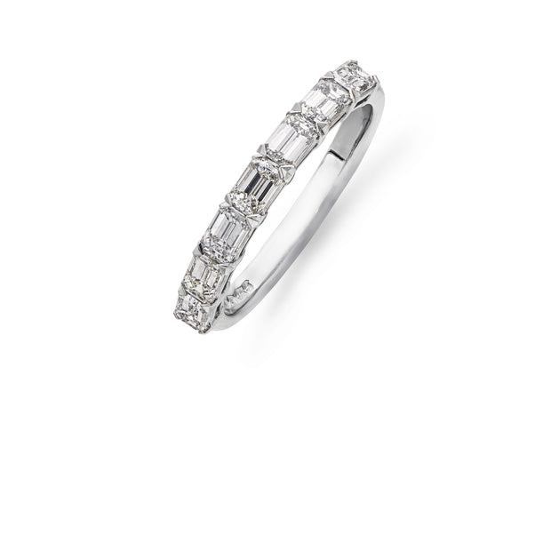 Emerald-Cut Seven Stone Diamond Ring in Platinum - Hamilton & Inches