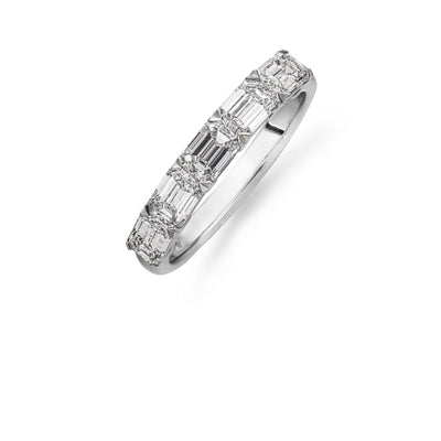 Emerald-Cut Five Stone Diamond Ring in Platinum - Hamilton & Inches