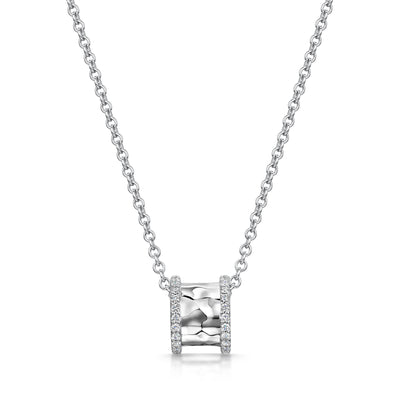 Hamilton & Inches Diamond Duke Pendant in 18ct White Gold-Hamilton & Inches