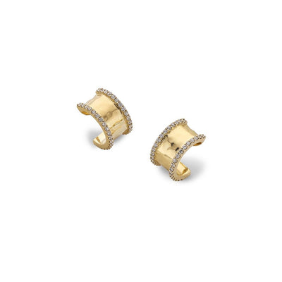 Hamilton & Inches Duke Earrings in 18ct Yellow Gold-Hamilton & Inches