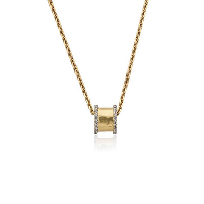 Hamilton & Inches Diamond Duke Diamond Pendant in 18ct Yellow Gold-Hamilton & Inches