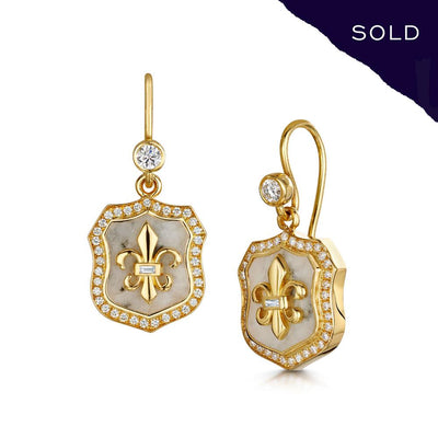 Scottish Gold Collection: Goldmine Quartz Earrings-Hamilton & Inches