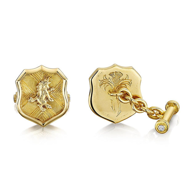 Scottish Gold Collection: Unicorn Cufflinks