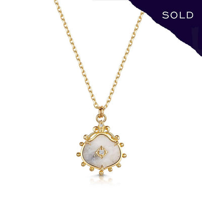 Scottish Gold Collection: Goldmine Quartz Pendant-Hamilton & Inches