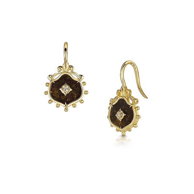Scottish Gold Collection: Jasper Earrings-Hamilton & Inches