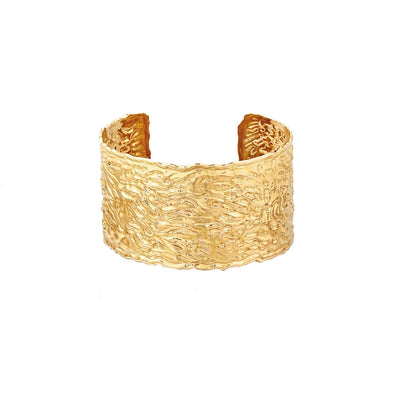 SCOTTISH GOLD COLLECTION: HAMMERED CUFF