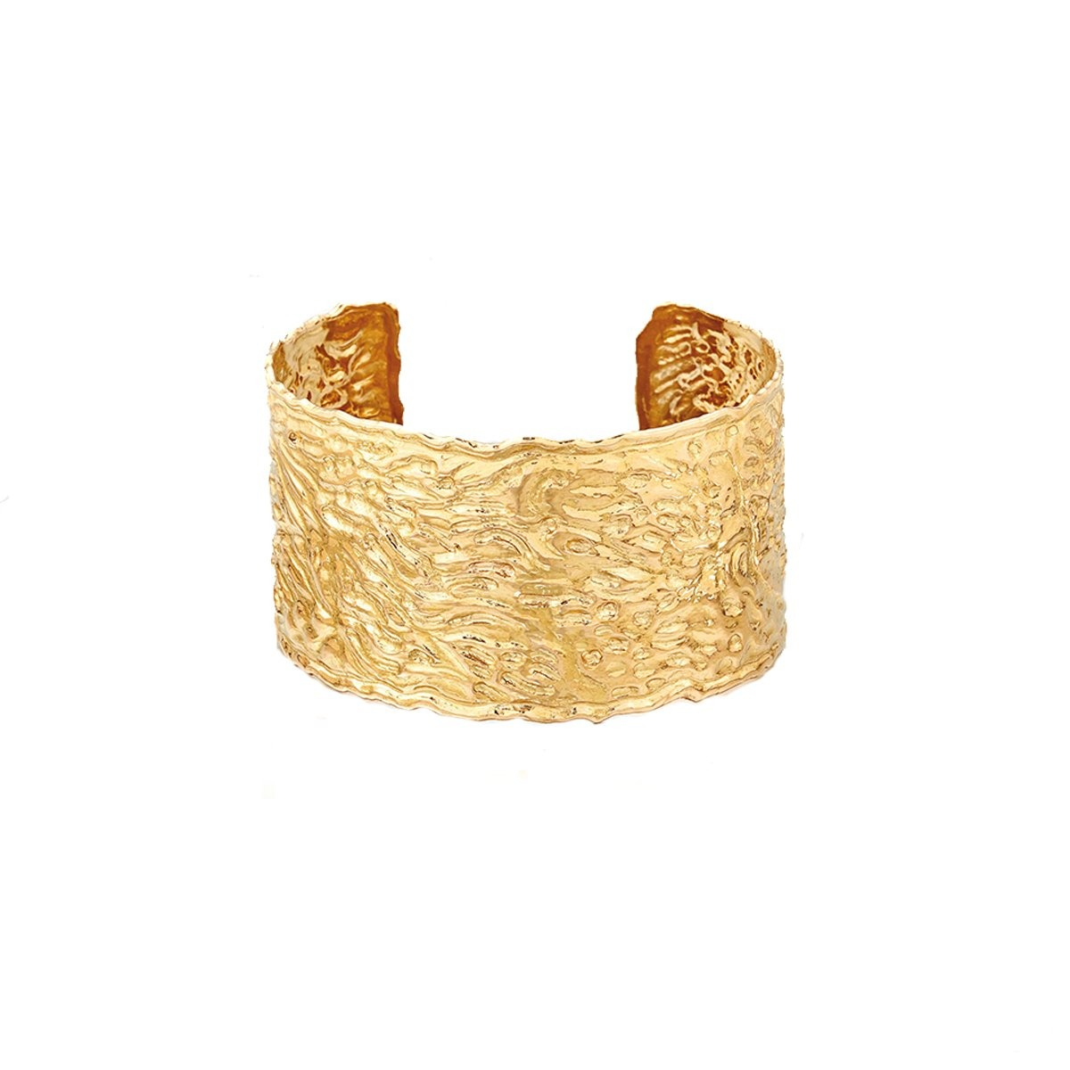 SCOTTISH GOLD COLLECTION: HAMMERED CUFF - Hamilton & Inches