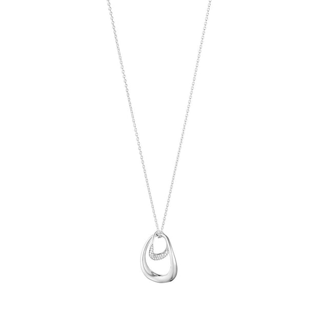 Georg Jensen Offspring Pendant in Sterling Silver with Pave Set Diamonds - Hamilton & Inches