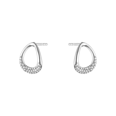 Georg Jensen Offspring Stud Earrings in Sterling Silver-Hamilton & Inches