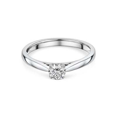 Diamond Solitaire Engagement Ring in Platinum