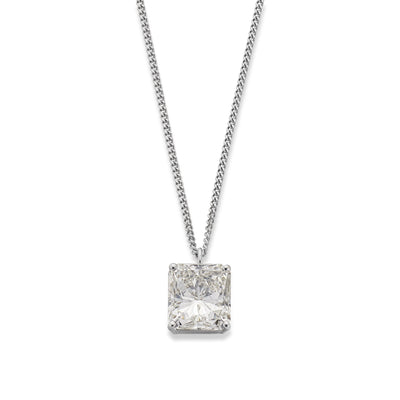 4.01ct diamond pendant in 18ct White Gold - Hamilton & Inches