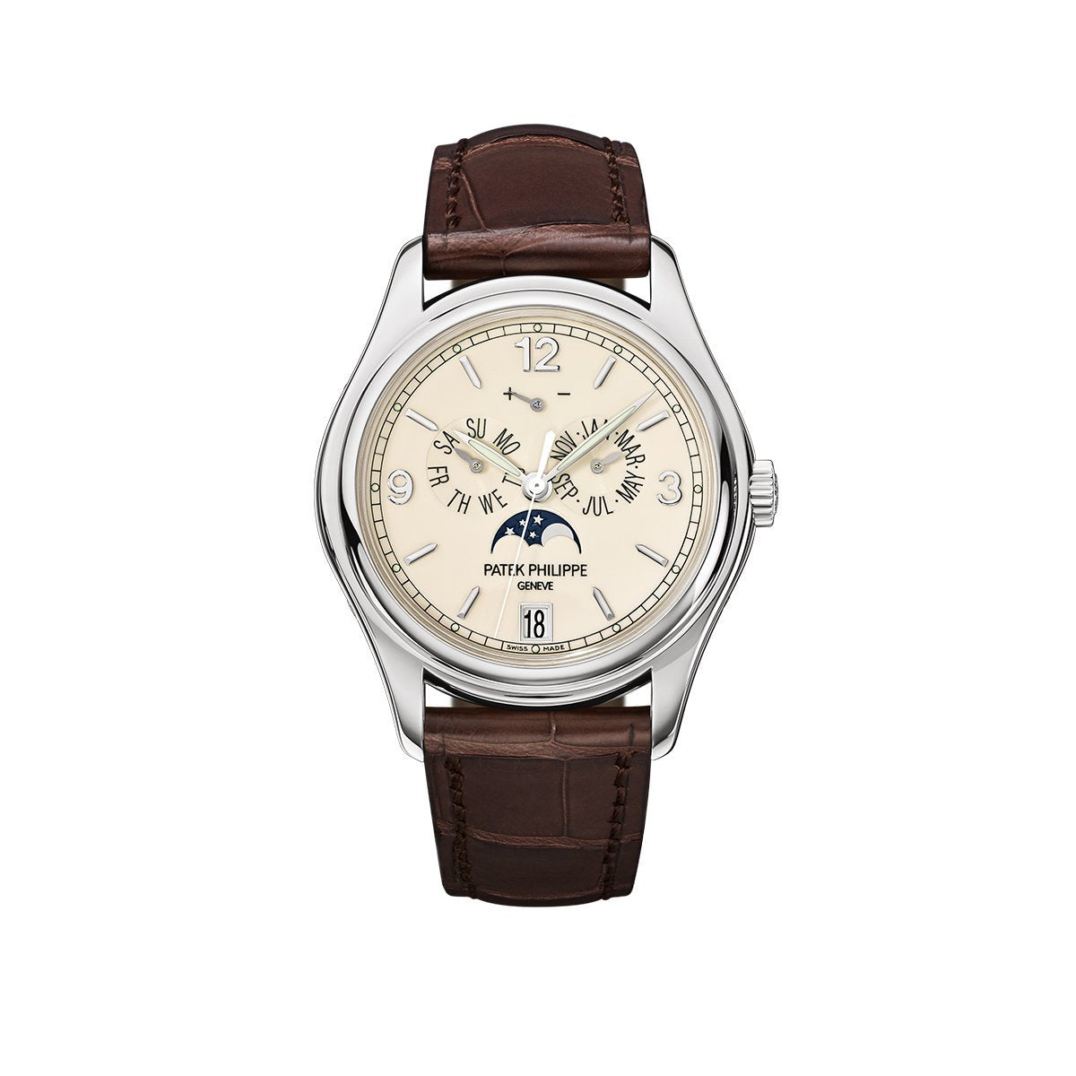 Patek Philippe Complications Moon Phase in White Gold-Hamilton & Inches