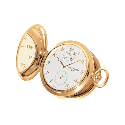 Patek Philippe Hunter Case Pocket Watch In 18ct Gold-Hamilton & Inches