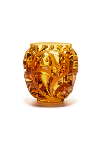 Lalique Tourbillons Vase in Amber - Hamilton & Inches