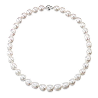 Pearl Necklace with 18ct White Gold Clasp - Hamilton & Inches