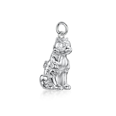TIGER CHARM IN STERLING SILVER-Hamilton & Inches