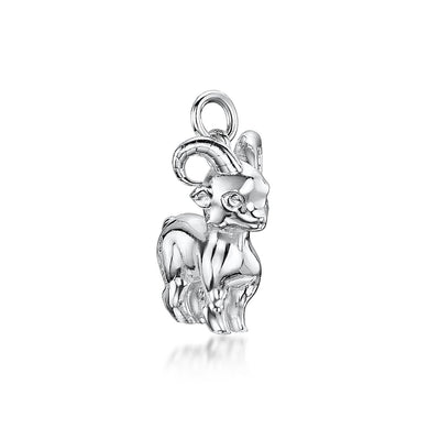 GOAT CHARM IN STERLING SILVER-Hamilton & Inches