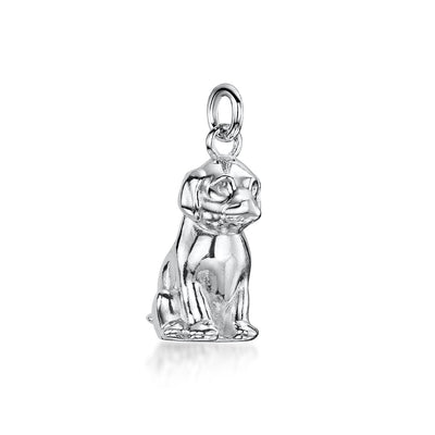 DOG CHARM IN STERLING SILVER-Hamilton & Inches