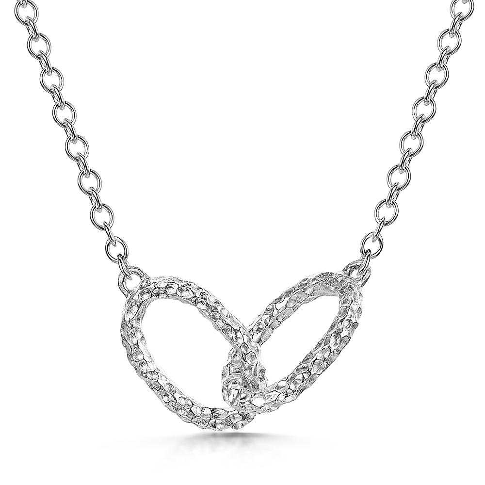 Luna Double Oval Link Pendant in Sterling Silver - Hamilton & Inches
