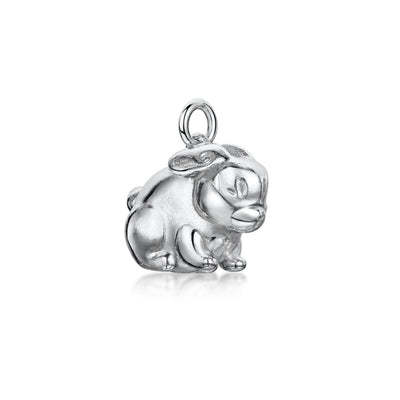 Rabbit Charm In Sterling Silver-Hamilton & Inches