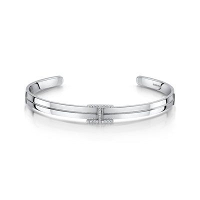Hamilton & Inches Singature Bangle in 18ct White Gold-Hamilton & Inches