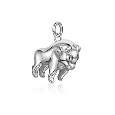 Oxen Charm In Sterling Silver-Hamilton & Inches