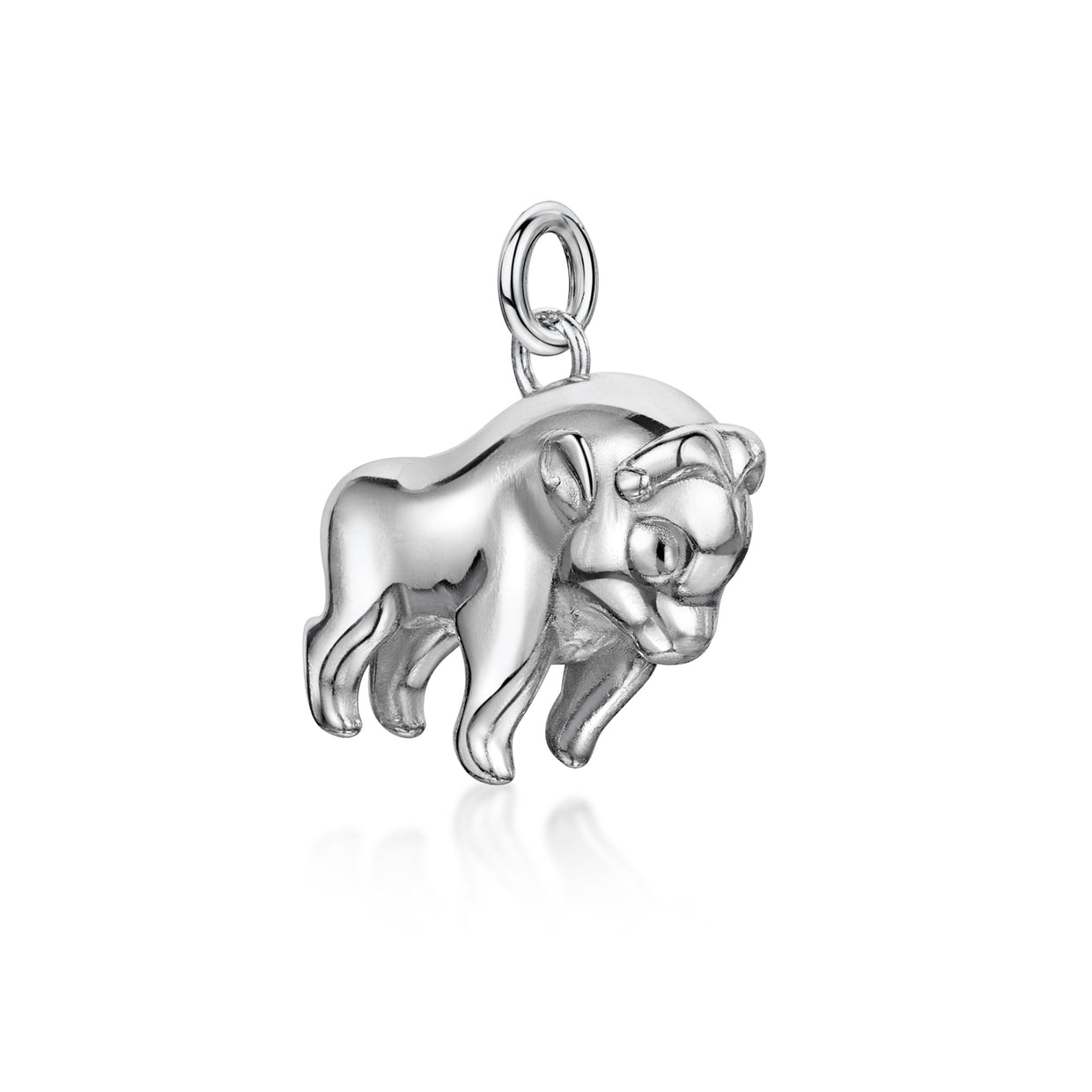 Oxen Charm In Sterling Silver-H & I-Hamilton & Inches