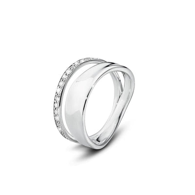 Georg Jensen Diamond Marcia Ring in Sterling Silver - Hamilton & Inches