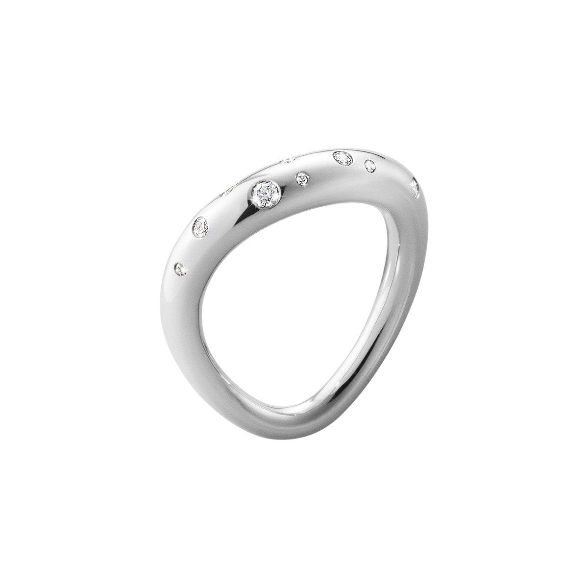 Georg Jensen Diamond Offspring Ring in Sterling Silver-Hamilton & Inches
