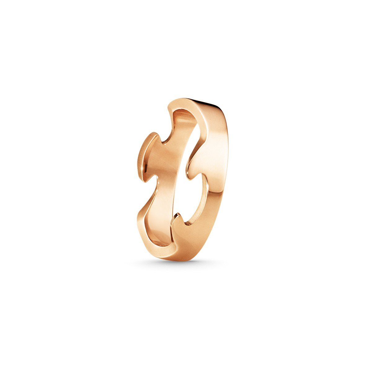 Georg Jensen Fusion Ring End Piece in 18ct Rose Gold - Hamilton & Inches