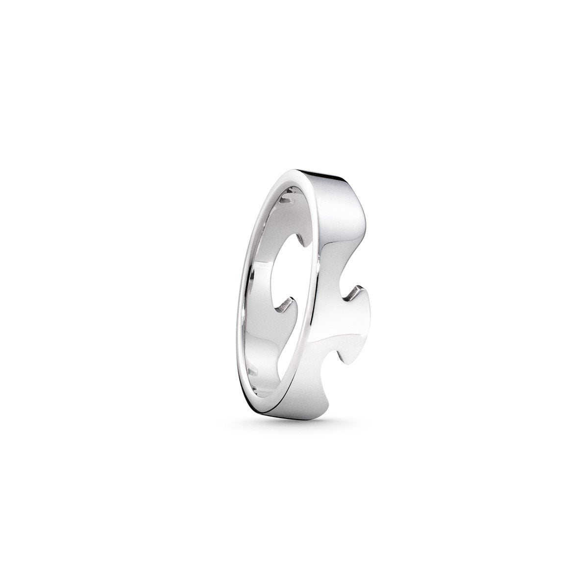Georg Jensen Fusion Ring End Piece in 18ct White Gold-Hamilton & Inches