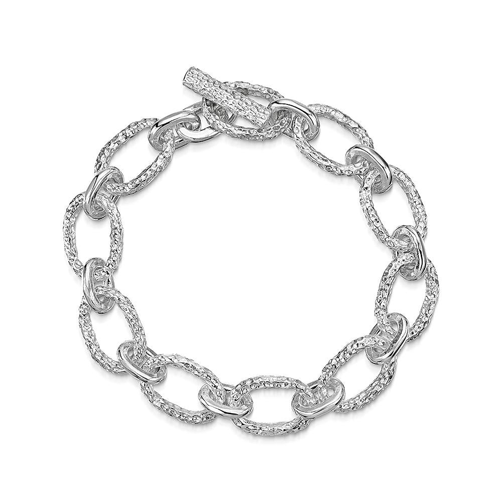 Luna Link Bracelet in Sterling Silver-Hamilton & Inches