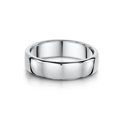 5mm Court-Shaped Wedding Ring in Platinum - Hamilton & Inches
