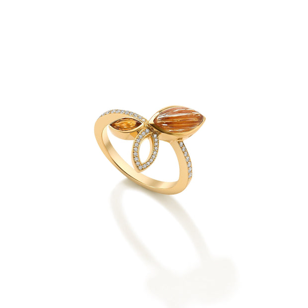 Hamilton & Inches Flora Ring in 18ct Yellow Gold-Hamilton & Inches