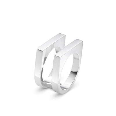 Georg Jensen Aria Two Row Ring in Sterling Silver-Hamilton & Inches