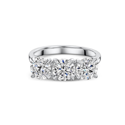 The Engagement Collection: Brilliant-Cut 2.40ct Three Stone Diamond Ring in Platinum-Hamilton & Inches