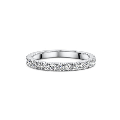 The Engagement Collection: Brilliant-Cut 2.4mm Wedding Ring in Platinum