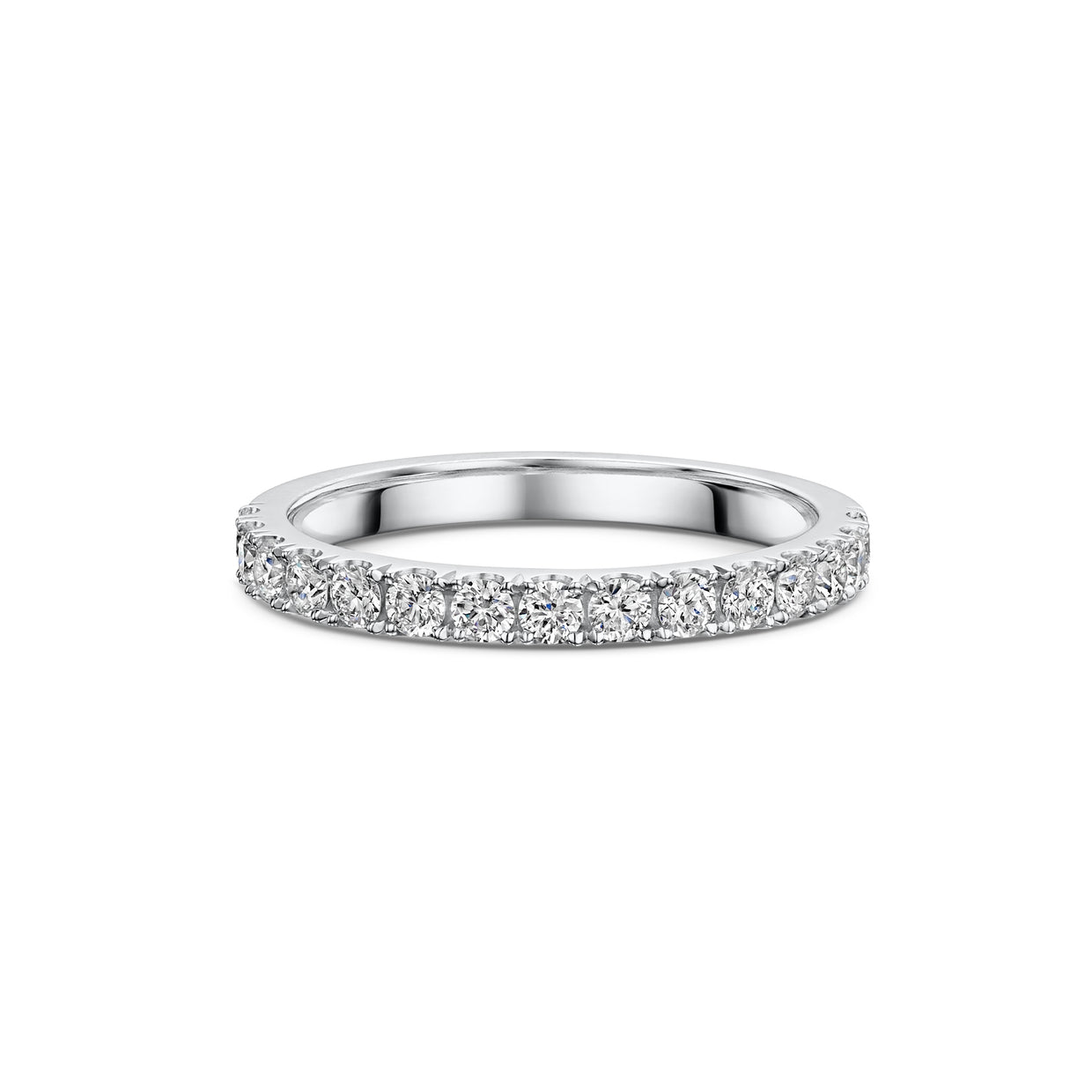 The Engagement Collection: Brilliant-Cut 2.4mm Wedding Ring in Platinum-Hamilton & Inches