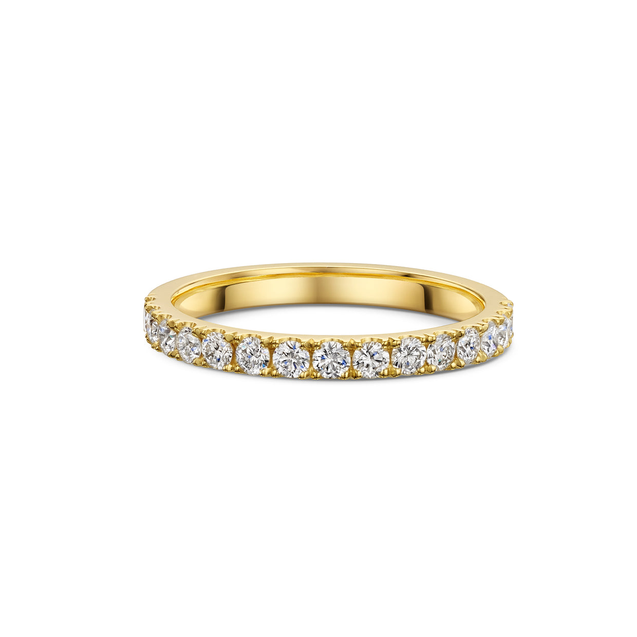 The Engagement Collection: Brilliant-Cut 2.4mm Wedding Ring in 18ct Yellow Gold-Hamilton & Inches