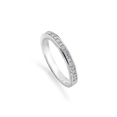 23 Stone Princess-Cut Diamond Eternity Ring in Platinum